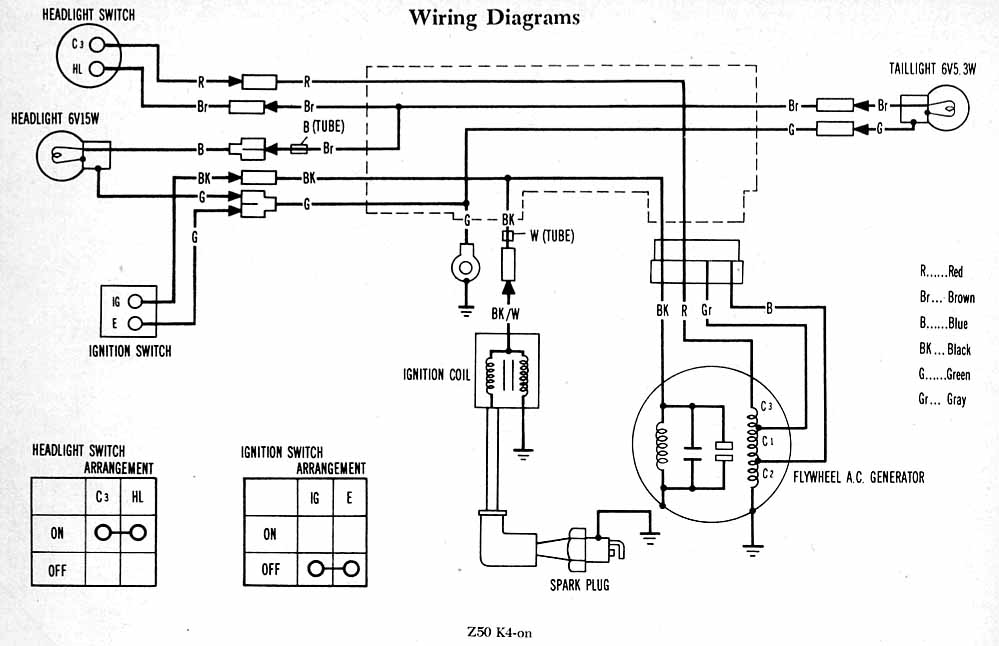 1970 honda ct70 wiring diagram 1973 honda ct70 wiring
